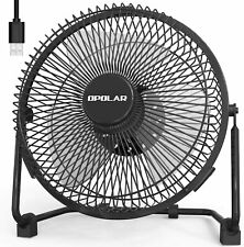 OPOLAR 9'' Super Quiet USB Table Desk Portable Fan, Strong Airflow, 2 Speeds