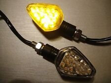 4X LED STAR Black Clear Turn signal APRILIA Pegaso 125,Shiver 750,Moto 6.5