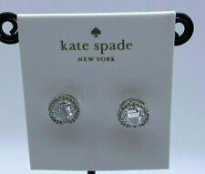 Kate Spade bright Silver Tone  studs Earrings
