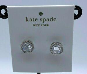 Kate Spade bright Silver Tone  studs Earrings