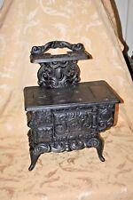 Antique Dolly's Favorite Large Black Cast Iron Salesman's Sampler Oven Stove
