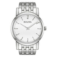 Bulova Men's Quartz Silver-Tone Dial Bracelet 38mm Watch 96A115