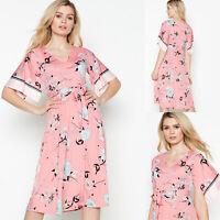 Debenhams by Principles NEW Pink Floral Scarf Print Midi Dress Sizes 8 to 22