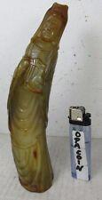 alte Horn Schnitzerei Guan-Yin Buddha mit Nektar des langen Leben China ca. 1970