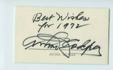 Autographed Index Card Legendary Radio Man & TV Star Arthur Godfrey