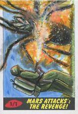 Mars Attacks The Revenge Sketch Card By Mohammad Jilani