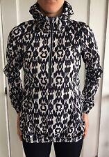Lululemon Size 4 Run Willpower Pullover IKAT Zip Jacket Black White Wind Hoodie
