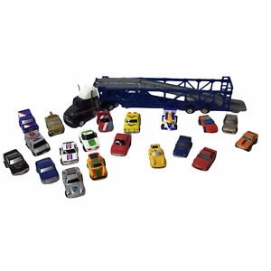 Vintage Micro Car Lot of 19 Micro Machines Funrise Mixed Brands Semi Car Carrier