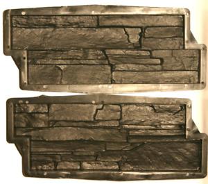 Stampi matrice Forma Rivestimento parete finta pietra gesso o cemento mattoncini