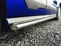 Side Bars For Renault Kangoo LWB Express Maxi 2008+ Polished Stainless Steel Van