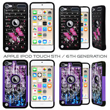 iPod Touch 5th / 6th Gen - Studded Bling Rhinestone Diamond Case Cover Hard Soft
