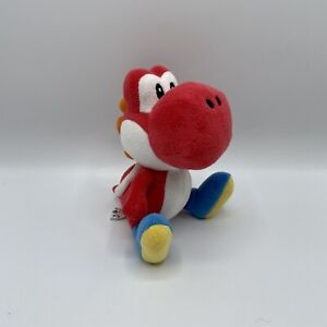 "Nintendo Super Mario Bros. 8"" Red Yoshi Stuffed Plush Video Game Authentic"