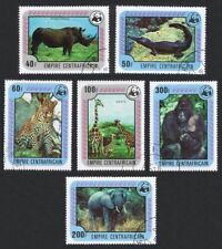 CENTRAL AFRICAN REPUBLIC, SC 323-328, 1978 Animals issue, complete. U-CTO