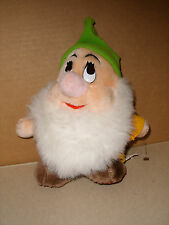 DISNEY PLUSH STUFFED HAPPY DWARF FROM SNOW WHITE AND THE SEVEN DWARFS 8 IN