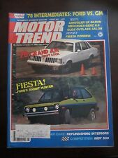 Motor Trend Magazine August 1977 Grand AM Ford Fiesta Le Baron (QQ)