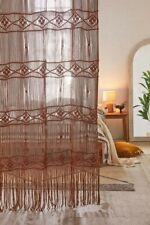 Urban Outfitters Magnolia Macramé Window Panel Honey Brown New