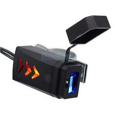 12V Motorcycle Bicycle Handlebar Mount USB Charger for Cell Phone GPS Black