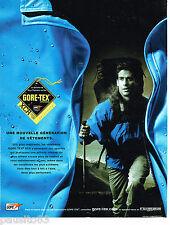 PUBLICITE ADVERTISING 065  2001  GORE-TEX  XCR pour vetements sport  randonnée