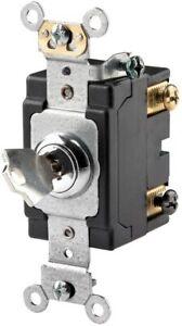 Leviton 1222-2KL Key Switch NIB
