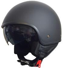 Jethelm 071 matt schwarz Chopper Sturz Helm Rollerhelm Motorradhelm S M L XL