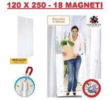 TENDA ZANZARIERA MAGNETICA CON CALAMITA PORTA BALCONE FINESTRA 120x250 CM BIANCO
