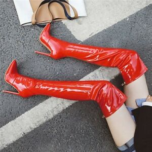 Thigh High Boots Women Sexy High Heels Over-the-knee Sexy Pointed Toe Shoes