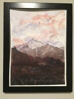 "Watercolor Painting Colorado ORIGINAL ""ROCKY MOUNTAINS"" 9x12 by John Harrison"