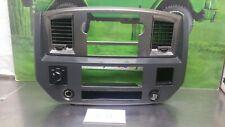06 07 08 DODGE RAM radio climate control dash bezel trim gray OEM 4x4