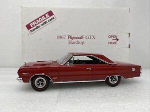 1/24 Danbury Mint 1967 Plymouth GTX Hardtop Red Black READ ME