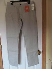 NWT Men's Docker's Modern Khakie Gray,White slim tapered Casual Pant W 32 L 32