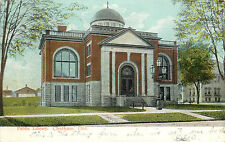 Vintage Postcard Public Library Chatham ONT  Kent County Canada