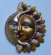 GENIAL PINTADA Metal INDIOS Sol & Moon Placa de pared 16.5cm