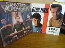 2x Star Trek Calendars (Voyager & Original Series) both 1997. (Collectors Items)