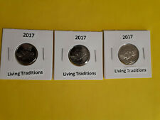 2017 Canada 150 Living Traditions 5 cents UNC from mint roll (x3)