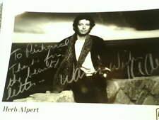 HERB ALPERT, Autograped 8x10 black & white photo,  With COA !!!!