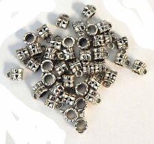 90 Dangle Hanger Beads 7x6mm Tube Flower Loop 3 5mm Hole