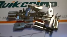 CRIMP TERMINALS FEMALE SPADE 8MM RECEPTACLE 10 PACK H/Quality tinned copper