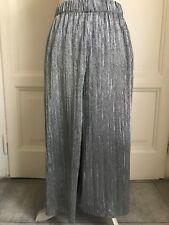 Gonna pantalone argento ZARA silver culottes M
