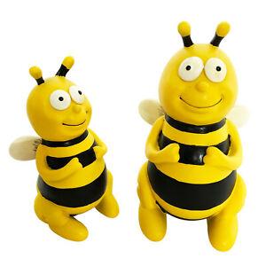 Gartenfiguren süsse Bienen im Set - Garten Deko Figuren Tierfiguren Rost groß