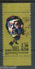 FRANCE - 1990, timbre 2653, JACQUES BREL, CELEBRITE, CHANTEUR, oblitéré