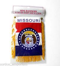 MISSOURI MINI POLYESTER US STATE FLAG BANNER 3 X 5 INCHES