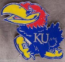NCAA Pewter Belt Buckle Kansas University Jayhawks NEW