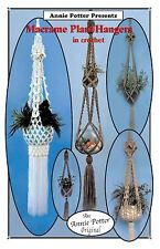 "Crochet plant hanger pattern ""Macrame Plant Hangers"""