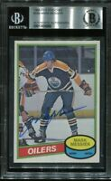 HOF MARK MESSIER signed autographed 1980-81 OPC ROOKIE CARD RC BECKETT (BAS)