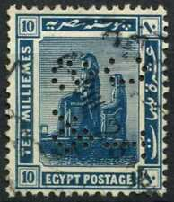 """Egypt 1921-2 SG#92, 10m Blue, """"TC&S"""" Used #D90706"""