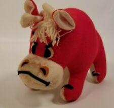 Vintage Dakin Dream Pet Tabasco Red Bull Plush Red 1975