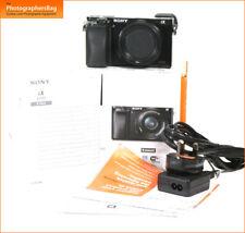 Sony A6000 Mirrorless Macchina Fotografica Digitale Corpo, Batterie, Caricabatterie E Mount 3,520 scatti