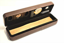 Csonka Caramel Cigar Case Pocket Travel Humidor  Ceder / Accessories GSPTA-CMB