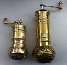 Fat Manual Brass Grinder Mill SET Turkish Greek Arabic Coffee Beans&Pepper Seeds