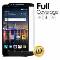BLACK FULL TEMPERED GLASS PHONE SCREEN PROTECTOR GUARD FOR LG STYLO 3 /3 PLUS